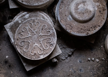 An original mould from the Spode factory.
