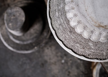 A detailed shot of a mould from the archives at Spode.